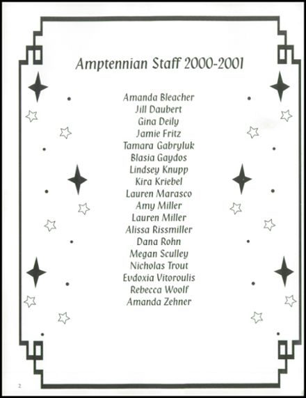 2001 Northampton High School Yearbook Page 6