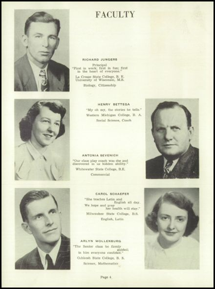 1952 Random Lake High School Yearbook Page 8