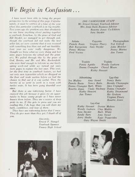 1968 Finney High School Yearbook Page 8