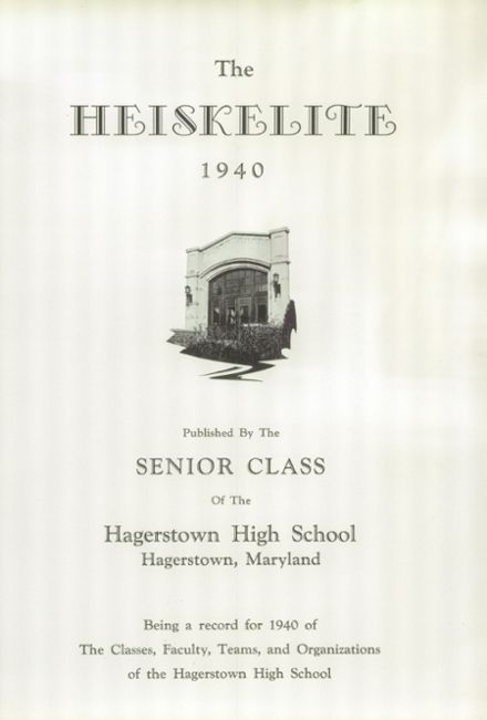 1940 Hagerstown High School Yearbook Page 5
