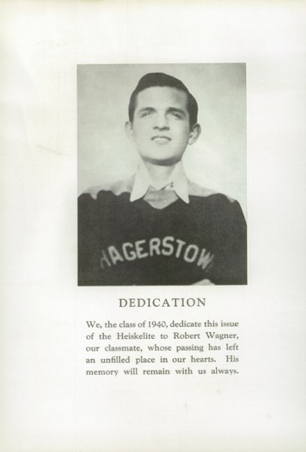 1940 Hagerstown High School Yearbook Page 6