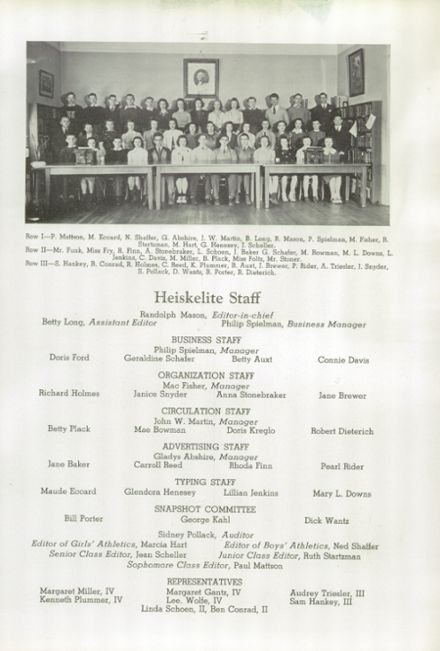 1940 Hagerstown High School Yearbook Page 7