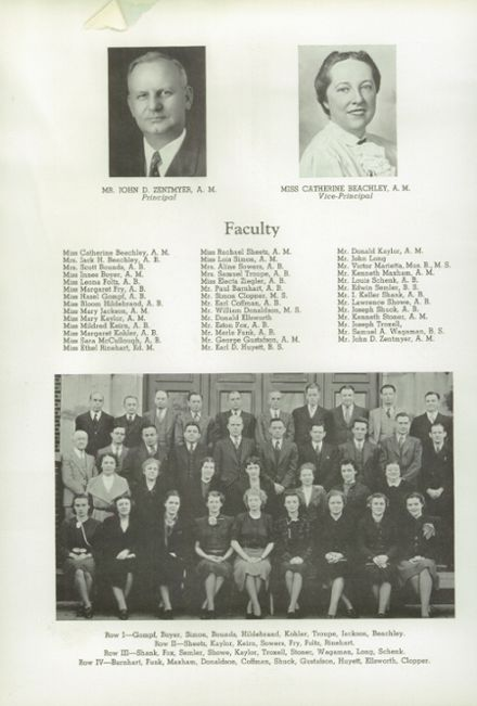 1940 Hagerstown High School Yearbook Page 8