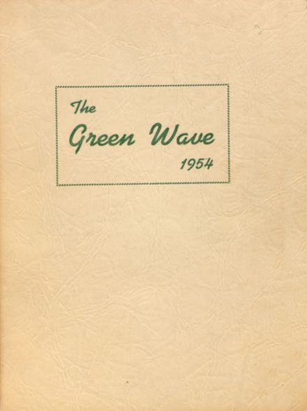 1954 Long Branch High School Yearbook Cover