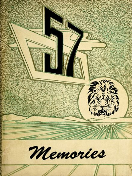 1957 Liberty Center High School Yearbook Cover