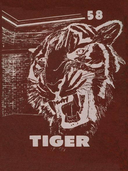 1958 Troup High School Yearbook Cover