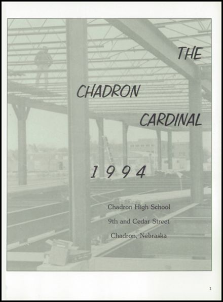 1994 Chadron High School Yearbook Page 5