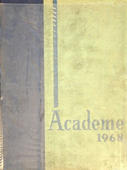 1968 Academy High School Yearbook Cover