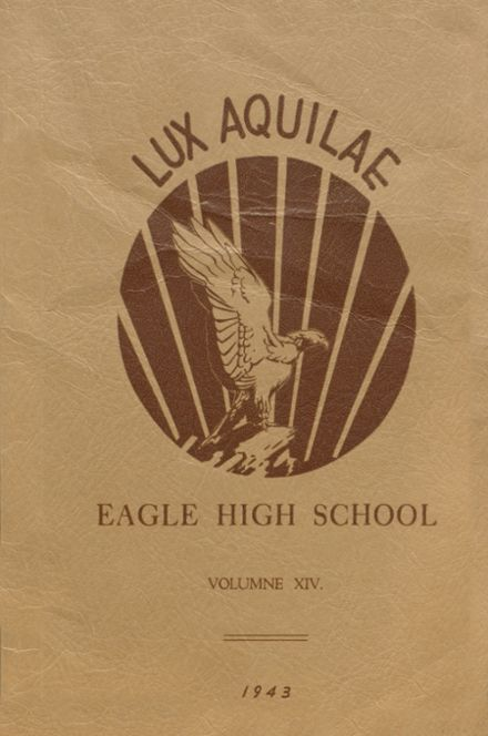 1943 Eagle Rock High School Yearbook Cover