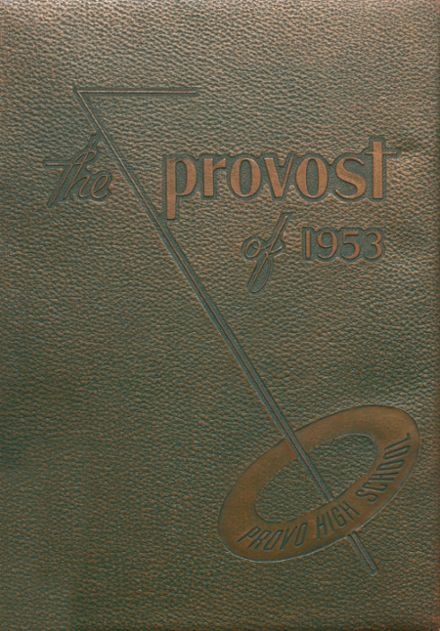 1953 Provo High School Yearbook Cover