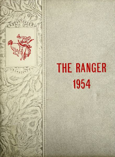 1954 Perryton High School Yearbook Cover