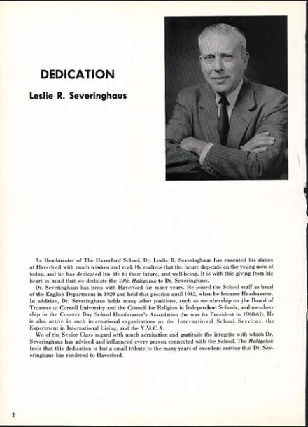 1965 Haverford School Yearbook Page 6