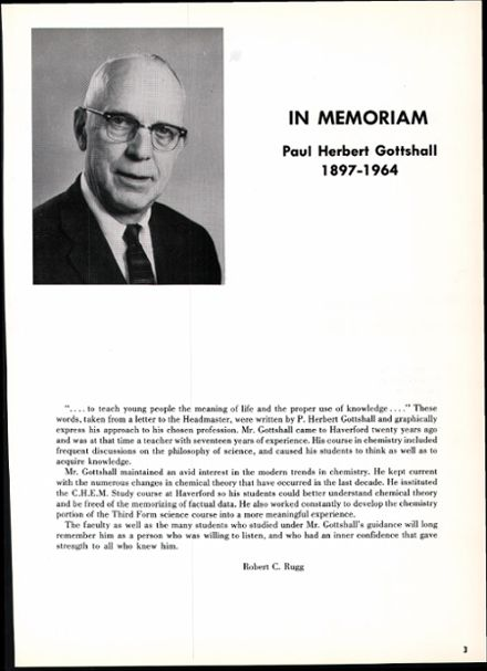 1965 Haverford School Yearbook Page 7