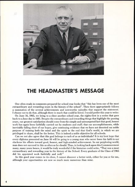 1965 Haverford School Yearbook Page 8