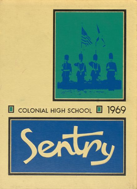 1969 Colonial High School Yearbook Cover
