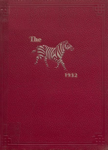 1932 Pine Bluff High School Yearbook Cover