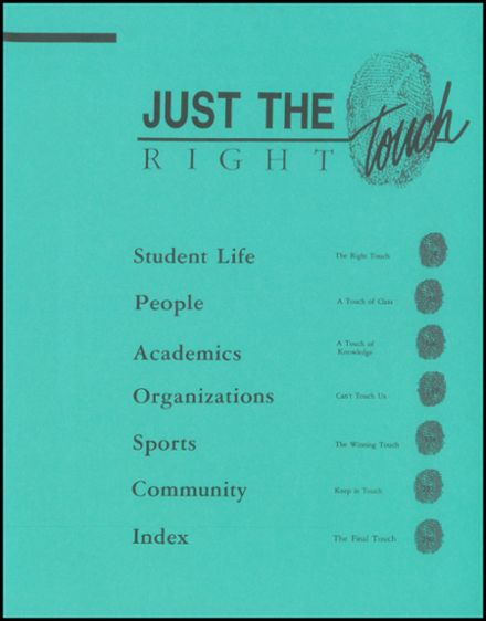 1992 Union High School Yearbook Page 3