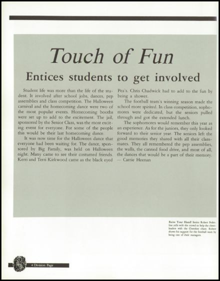 1992 Union High School Yearbook Page 8
