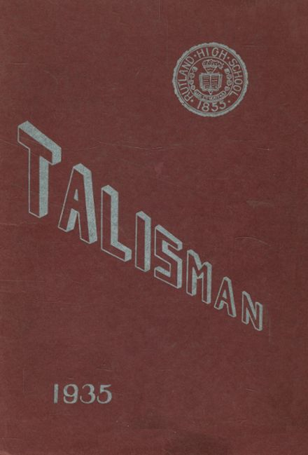1935 Rutland High School Yearbook Cover