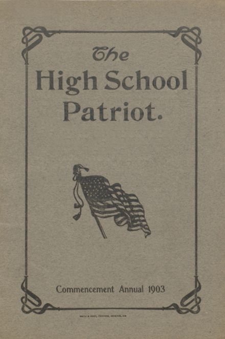 1903 Seymour High School Yearbook Cover