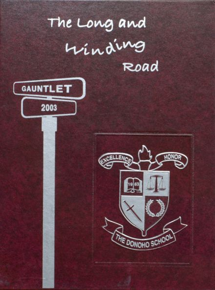 2003 Donoho High School Yearbook Cover