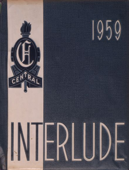 1959 Central High School Yearbook Cover