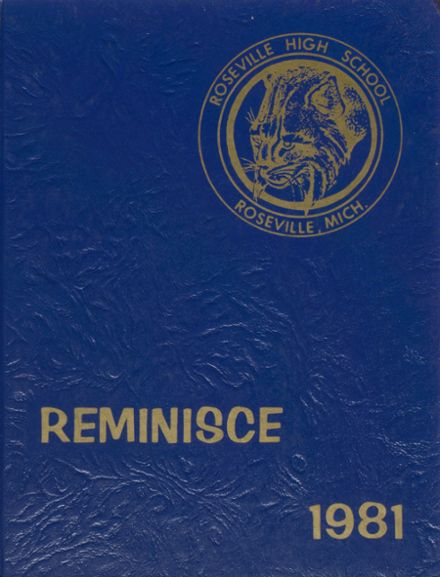 1981 Roseville High School Yearbook Cover