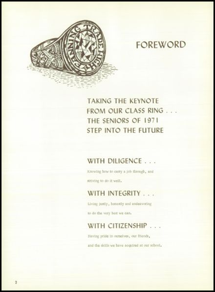 1971 Fanning Trade High School Yearbook Page 6