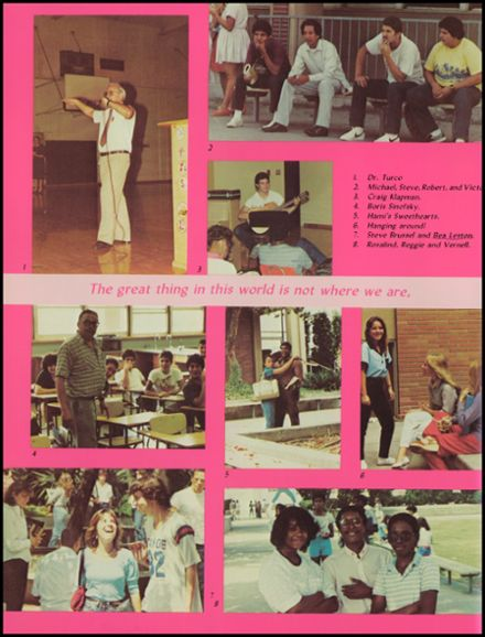 1984 Alexander Hamilton High School Yearbook Page 8