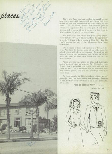 1954 San Bernardino High School Yearbook Page 7
