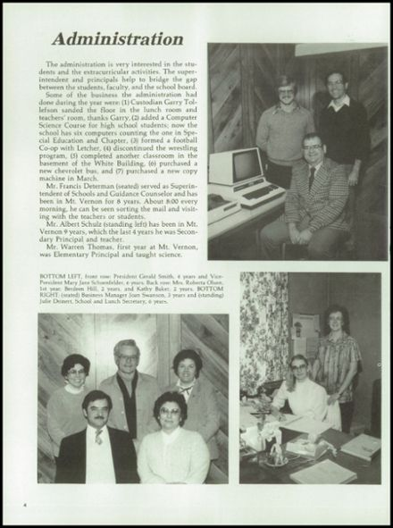 1984 Mt. Vernon High School Yearbook Page 8