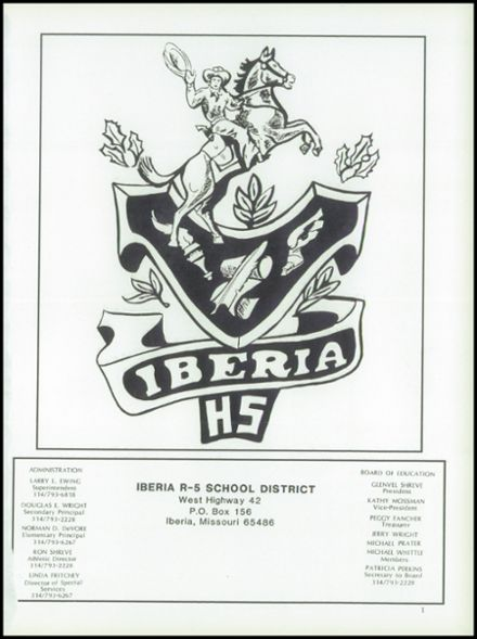 1989 Iberia High School Yearbook Page 5