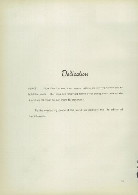 1946 North High School Yearbook Page 6