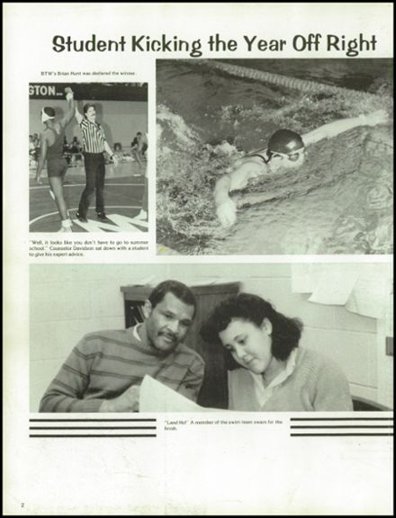 1986 Booker T. Washington High School Yearbook Page 6