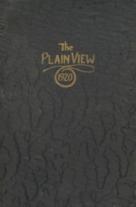 1920 Plainview High School Yearbook Cover