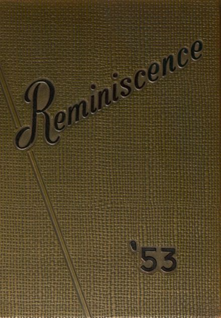 1953 Harrison High School Yearbook Cover