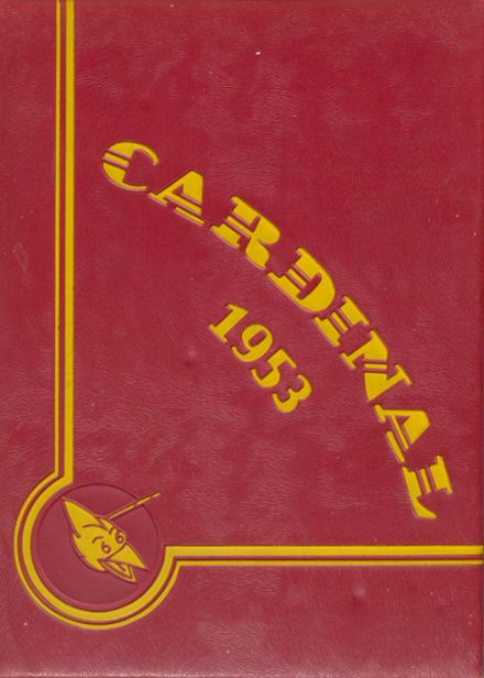 1953 Glendale High School Yearbook Cover