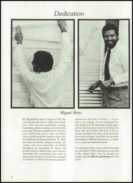 1983 Thayer Academy Yearbook Page 6
