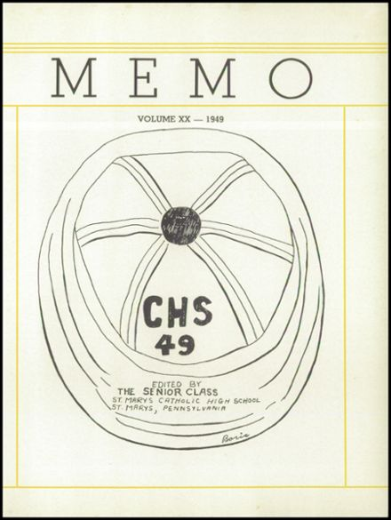 1949 St. Marys Catholic High School Yearbook Page 5