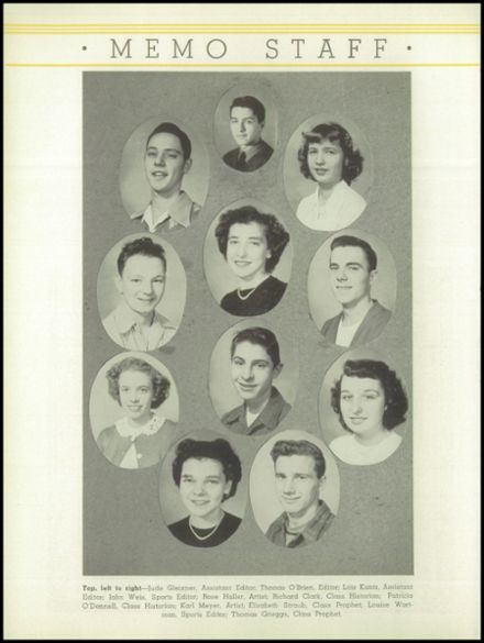 1949 St. Marys Catholic High School Yearbook Page 6