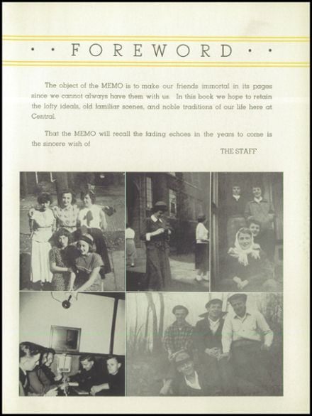 1949 St. Marys Catholic High School Yearbook Page 7