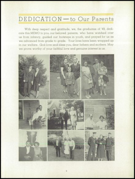 1949 St. Marys Catholic High School Yearbook Page 9