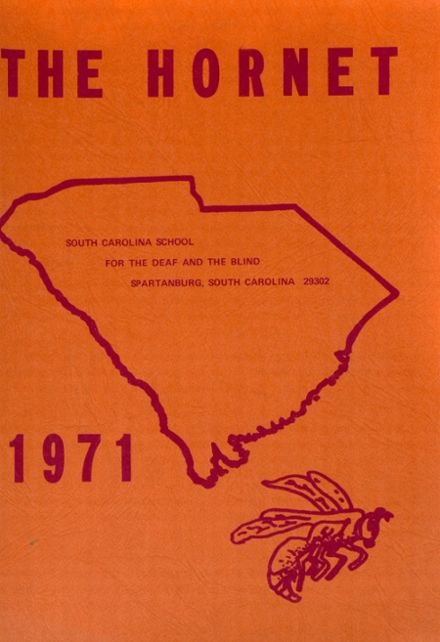 1971 South Carolina School for the Deaf & Blind Yearbook Cover
