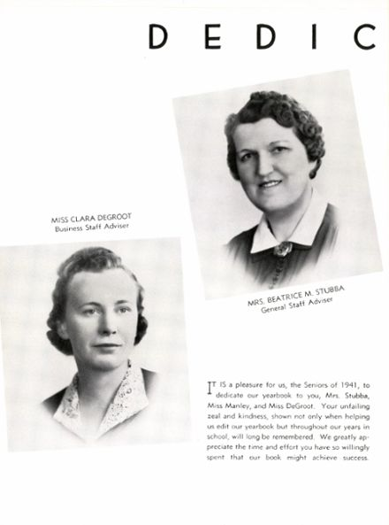 1941 Passaic High School Yearbook Page 8