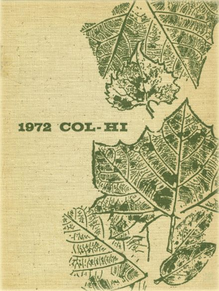 1972 College High School Yearbook Cover