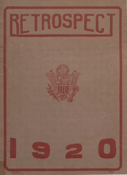 1920 Bluffton High School Yearbook Cover