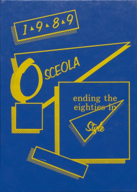 1989 Osceola High School Yearbook Cover