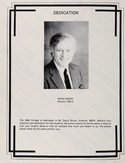 1988 Baltimore School for the Arts 415 Yearbook Page 6