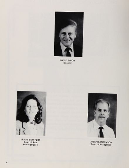 1988 Baltimore School for the Arts 415 Yearbook Page 8