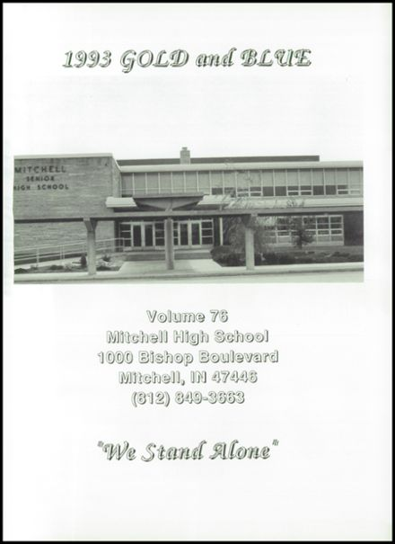 1993 Mitchell High School Yearbook Page 5